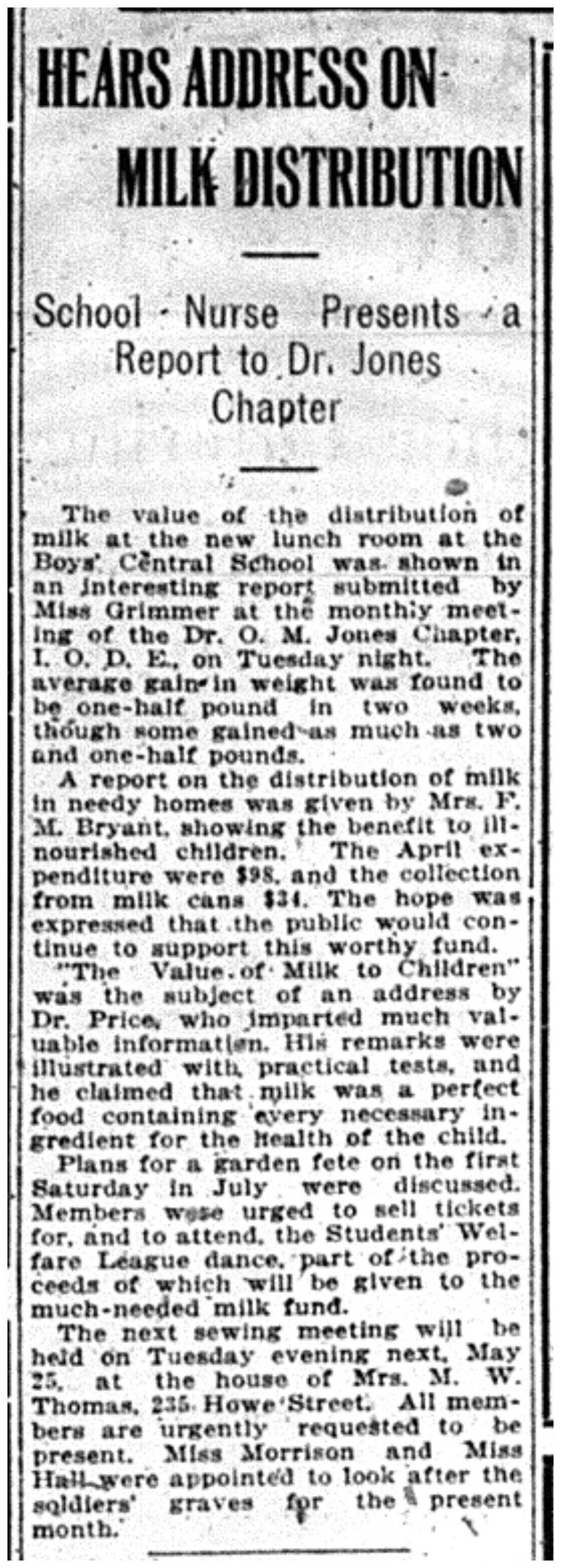 """Hears Address On Milk Distribution"""