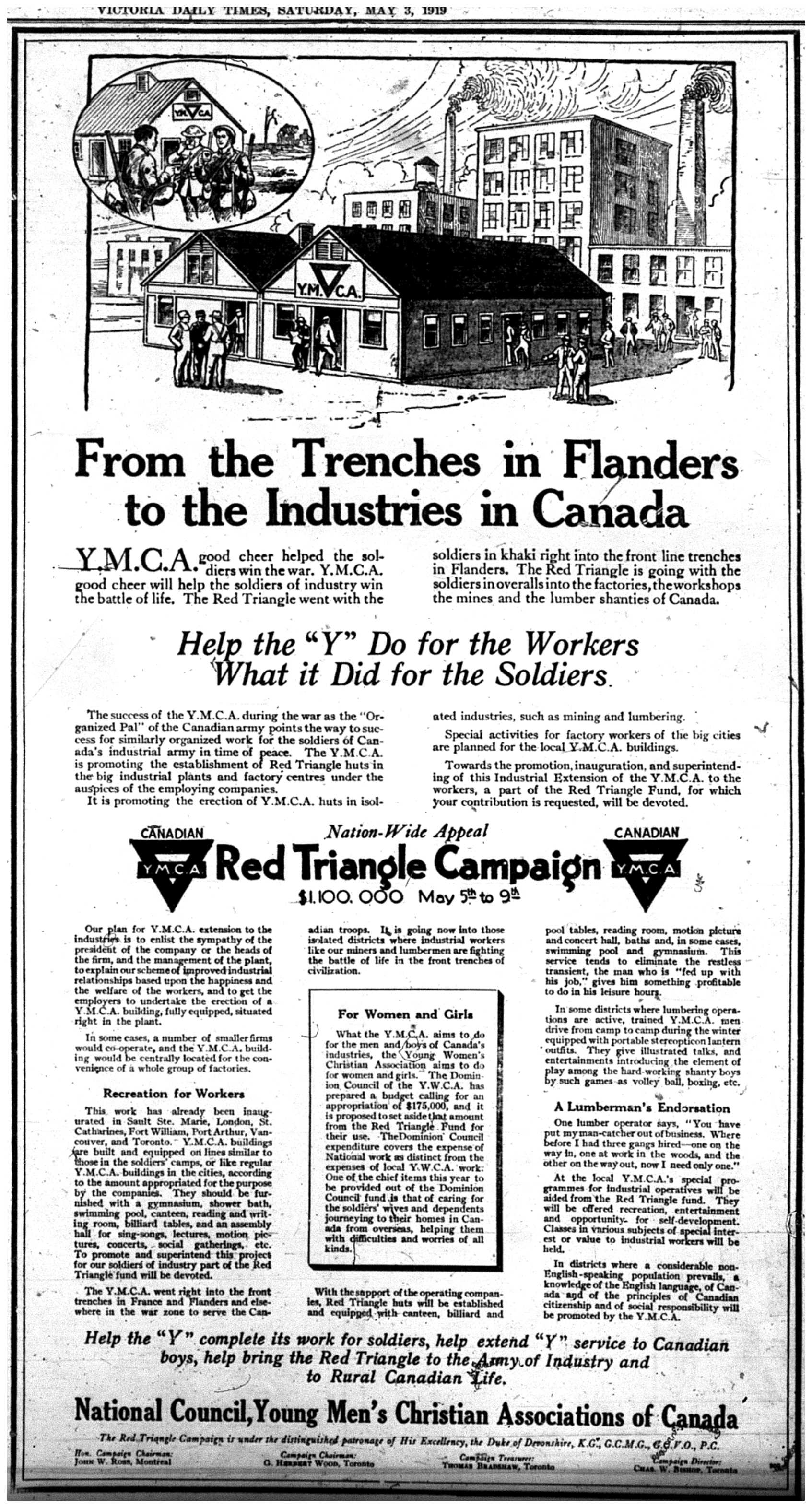 """From the Trenches in Flanders to the Industries in Canada"""
