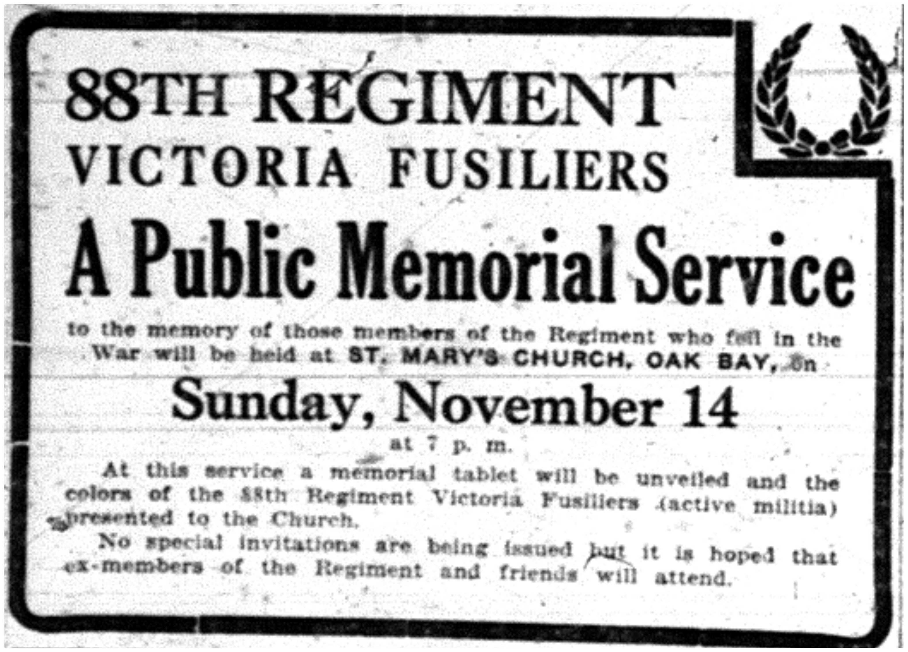 """A Public Memorial Service"""