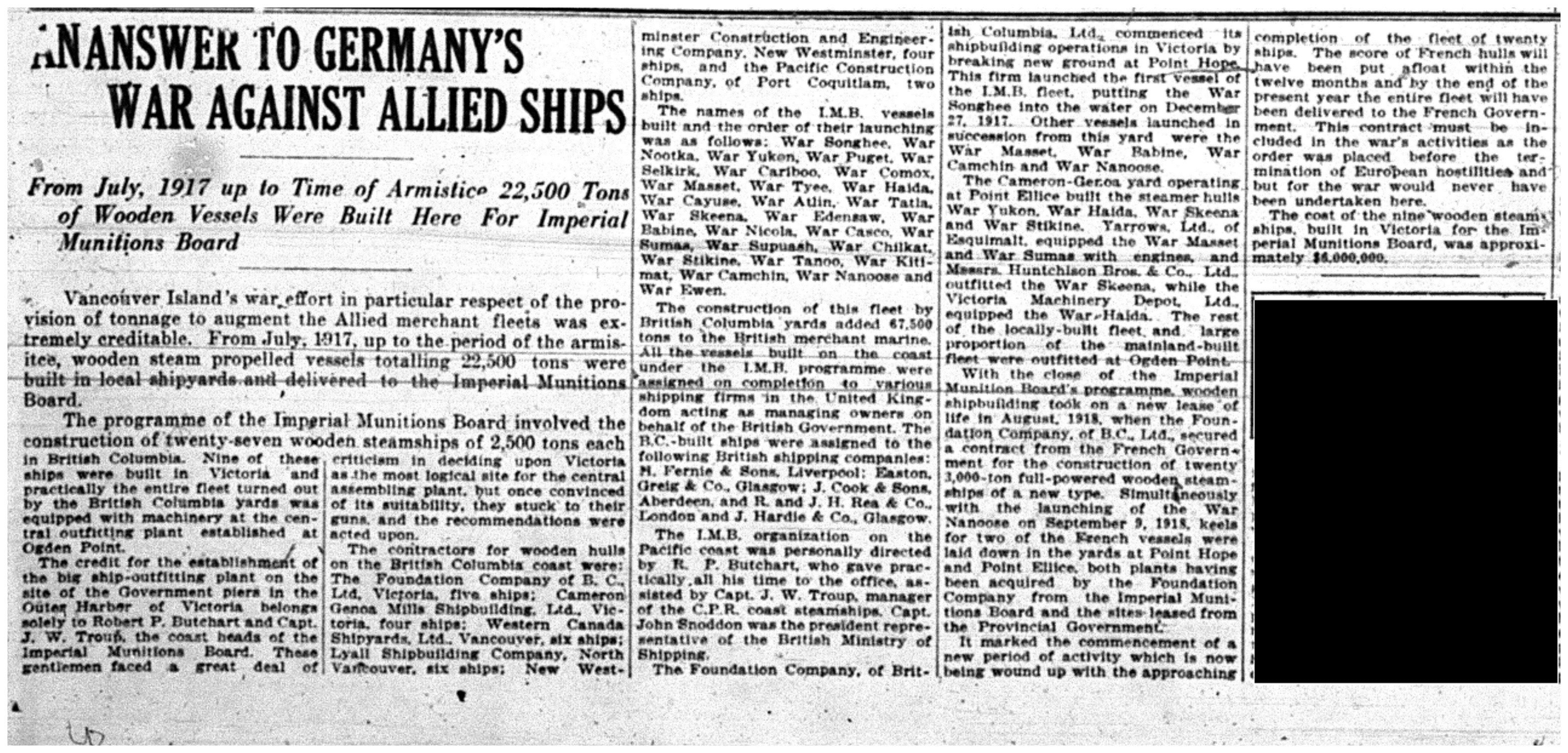 """An Answer To Germany's War Against Allied Ships"""