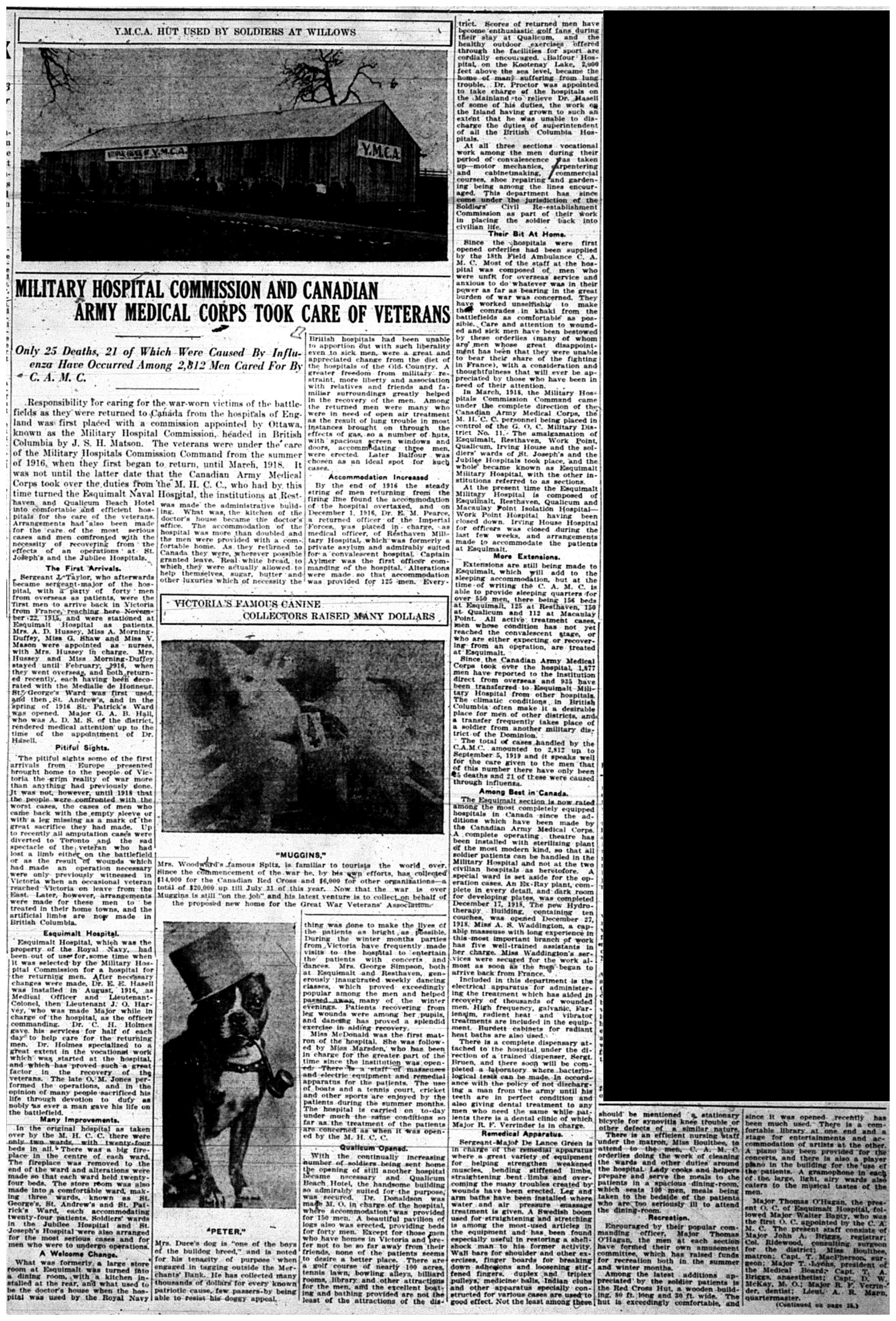 """Military Hospital Commission And Canadian Army Medical Corps Took Care of Veterans"""