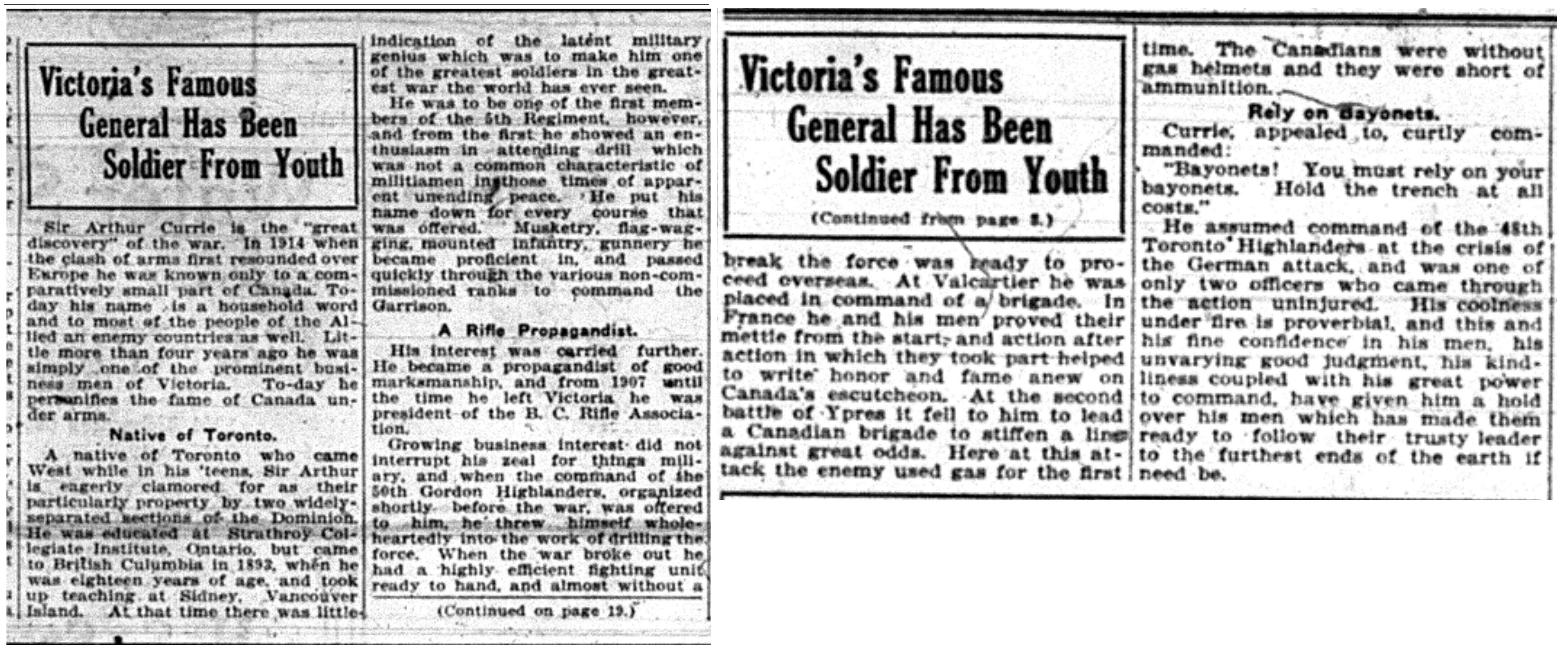 """Victoria's Famous General Has Been Soldier From Youth"""