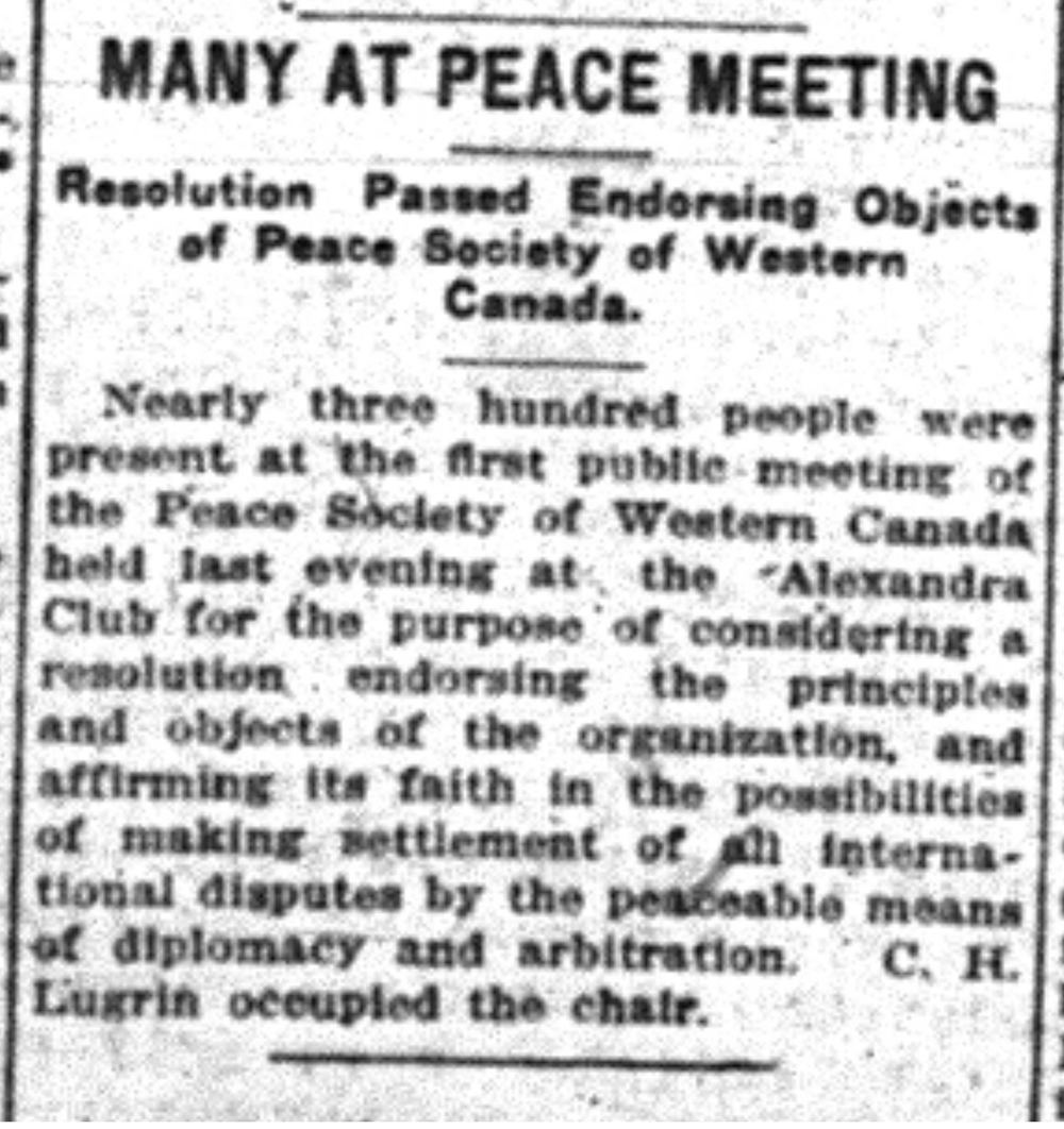 """Many at Peace Meeting"""