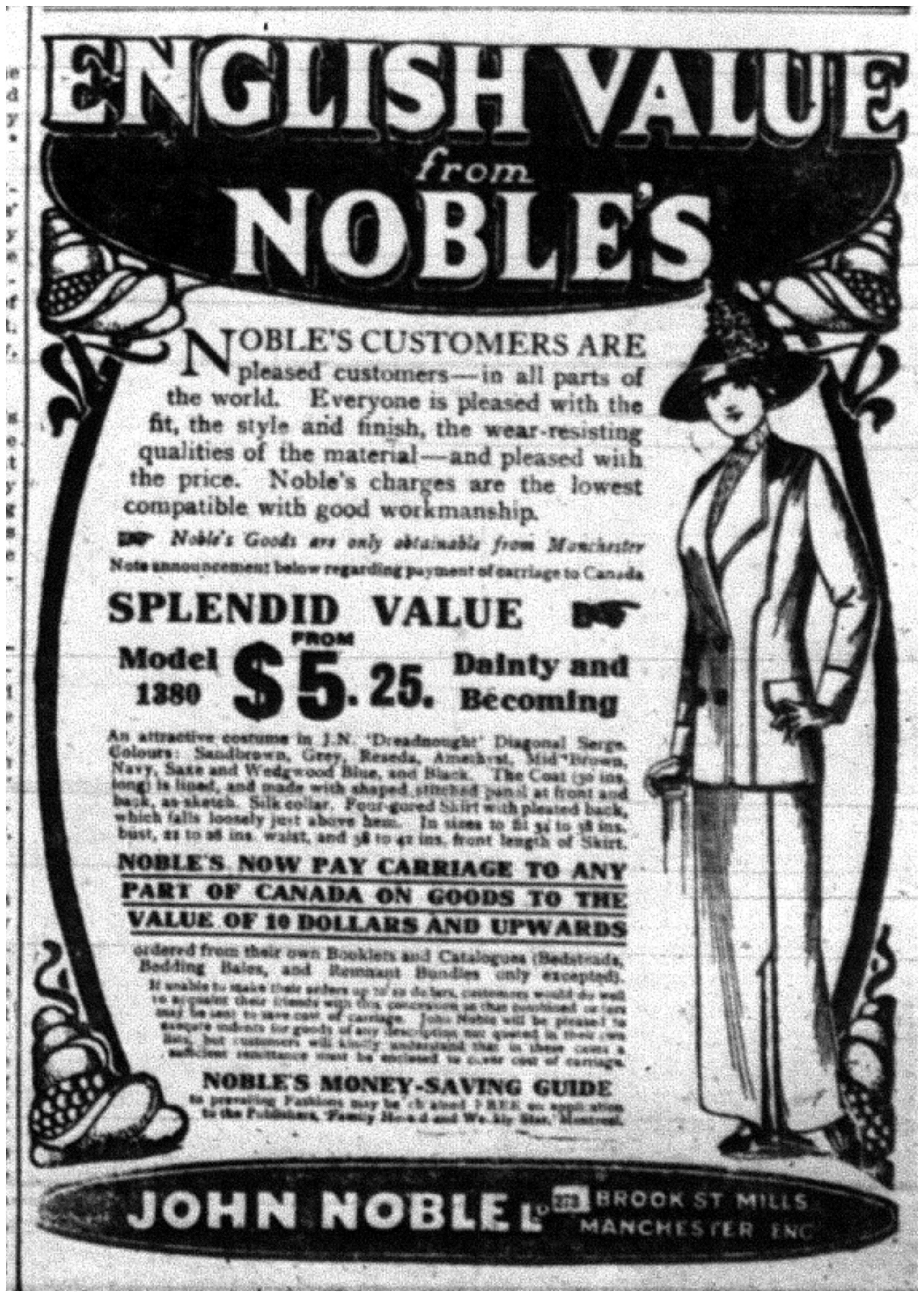 """English Value From Noble's"""