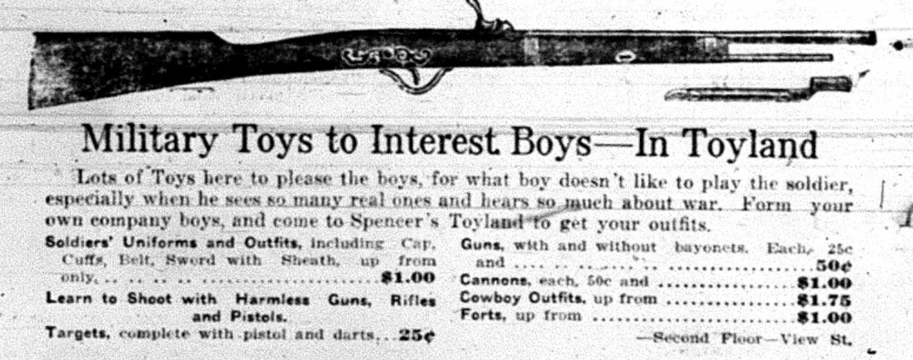 """Military Toys to Interest Boys - in Toyland"""