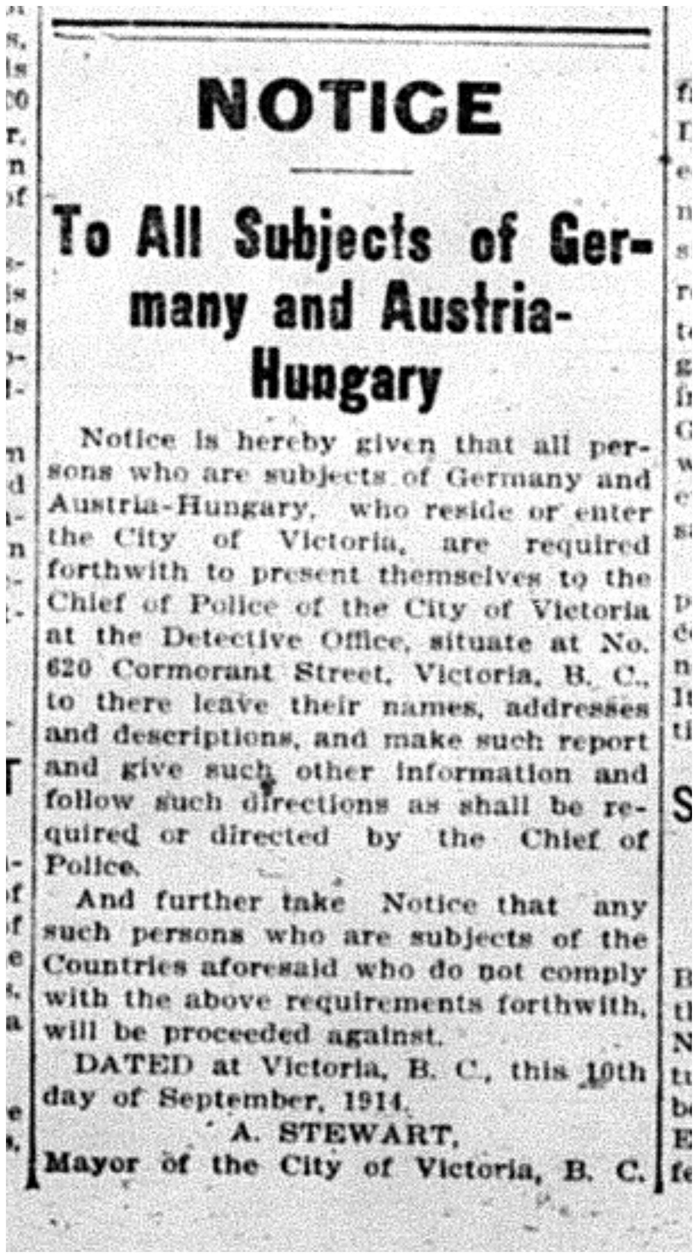 """To All Subjects of Germany and Austria-Hungary"""
