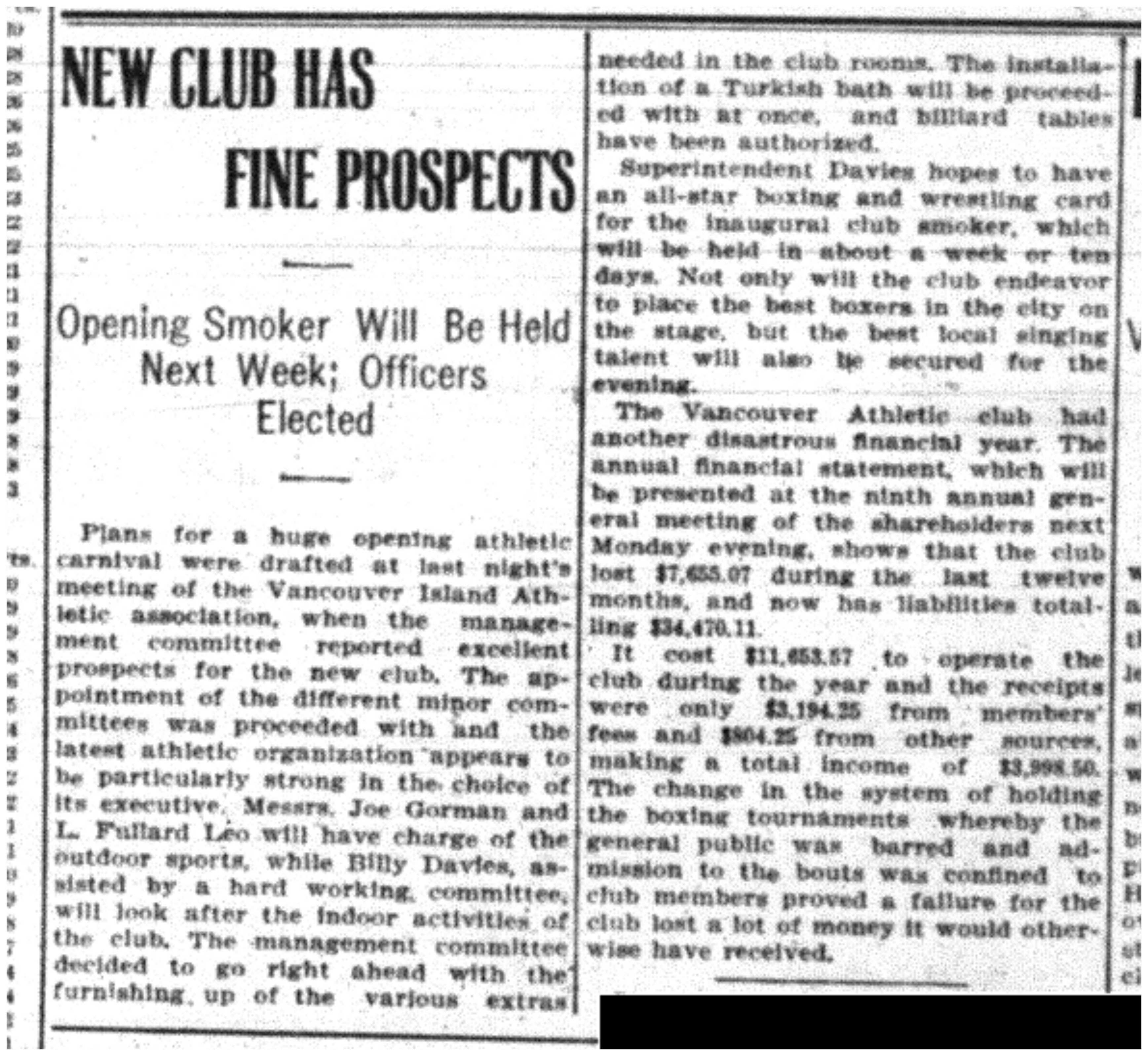 """New Club Has Fine Prospects"""