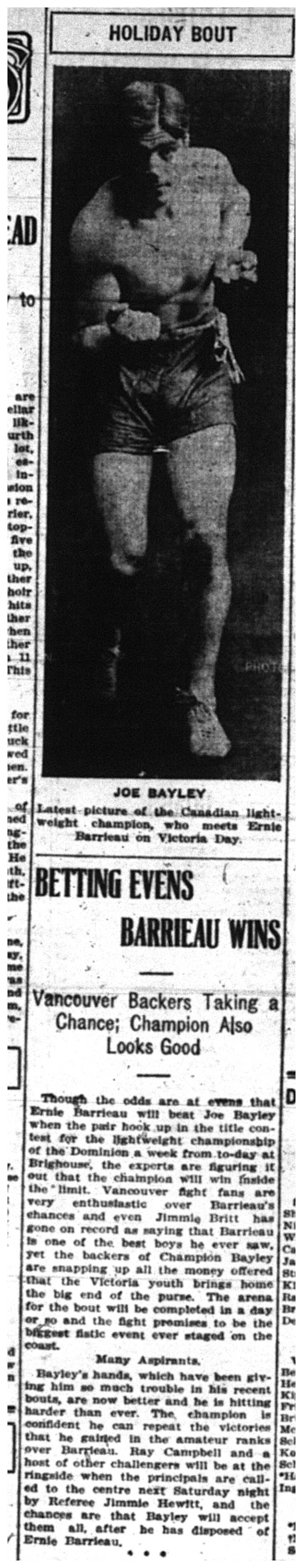 """Betting Evens Barrieau Wins"""