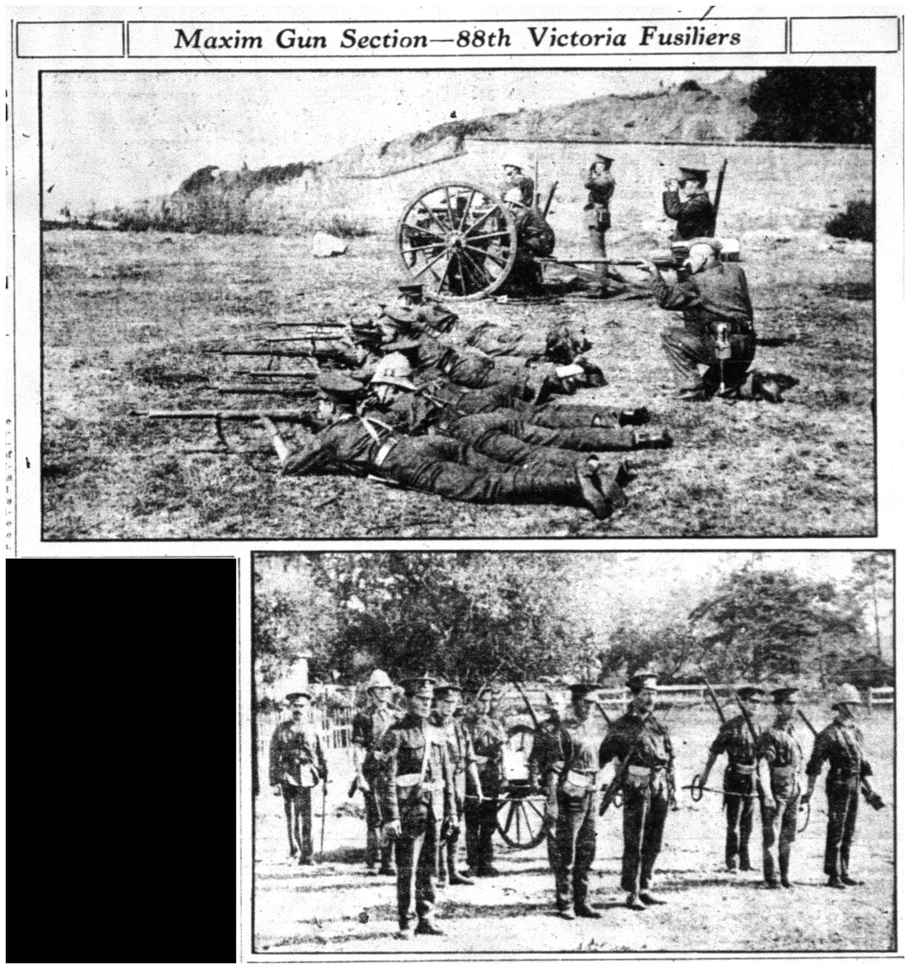 """Maxim Gun Section - 88th Victoria Fusiliers"""