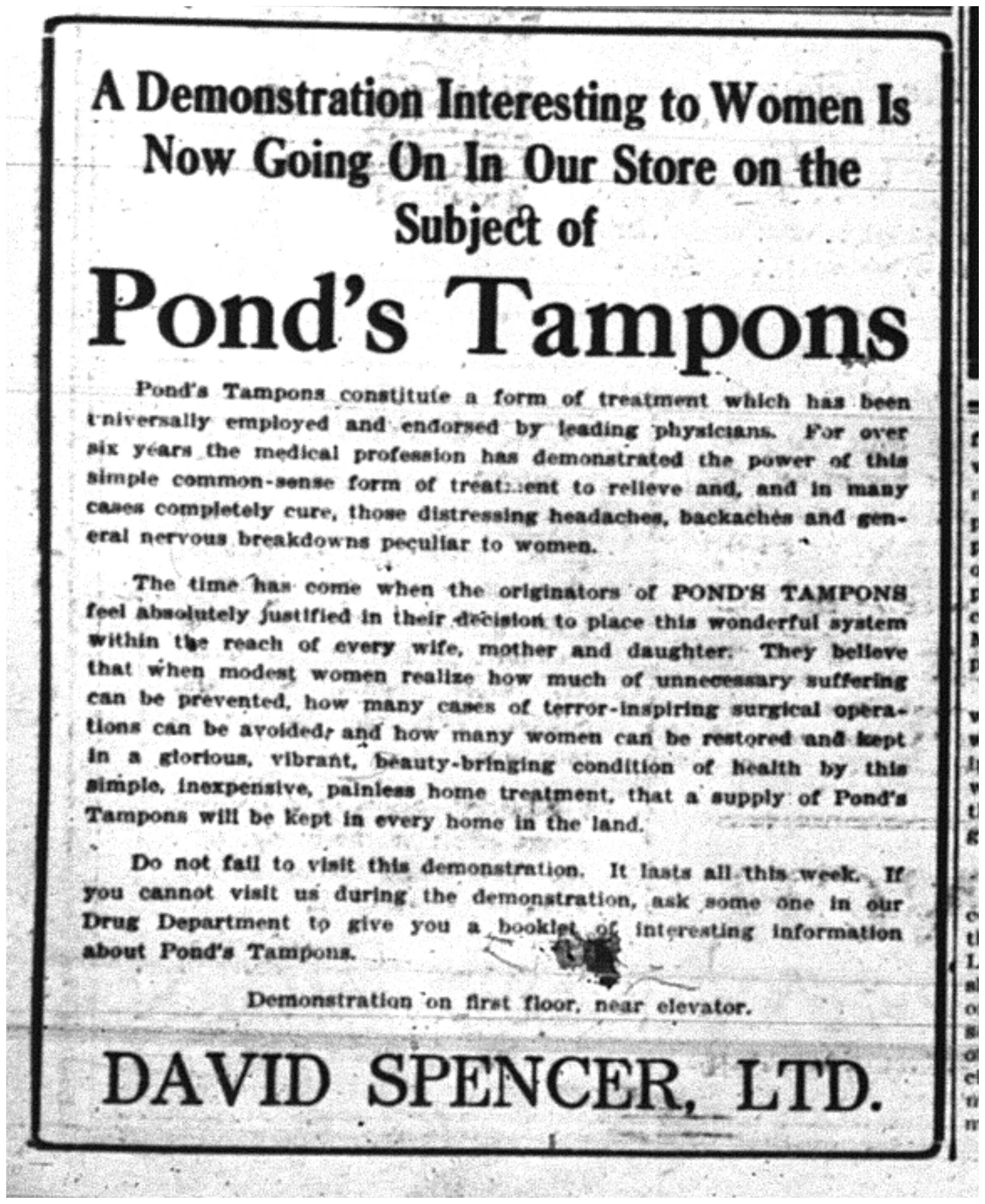 """Pond's Tampons"""
