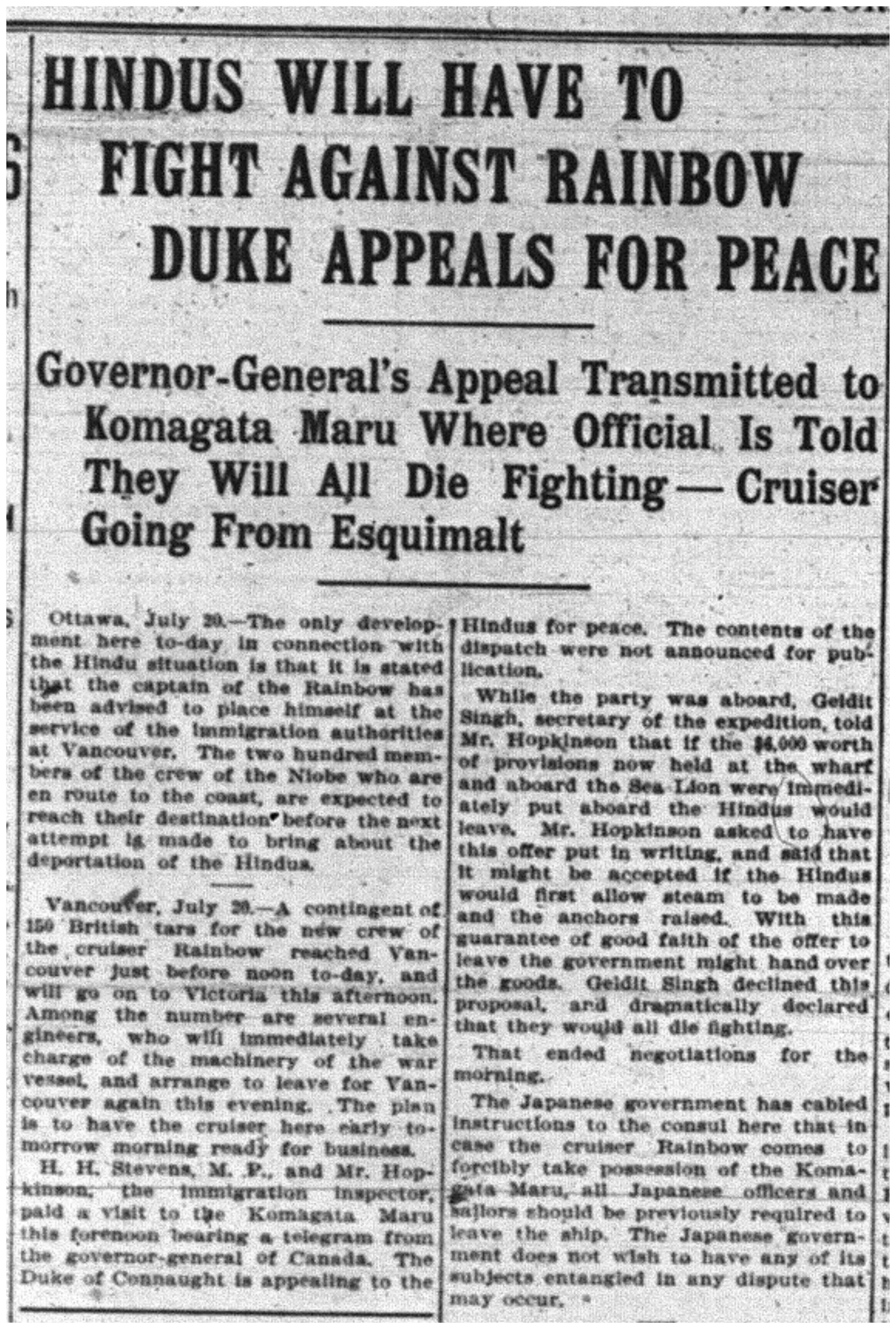 """Hindus Will Have to Fight Against Rainbow - Duke Appeals for Peace"""