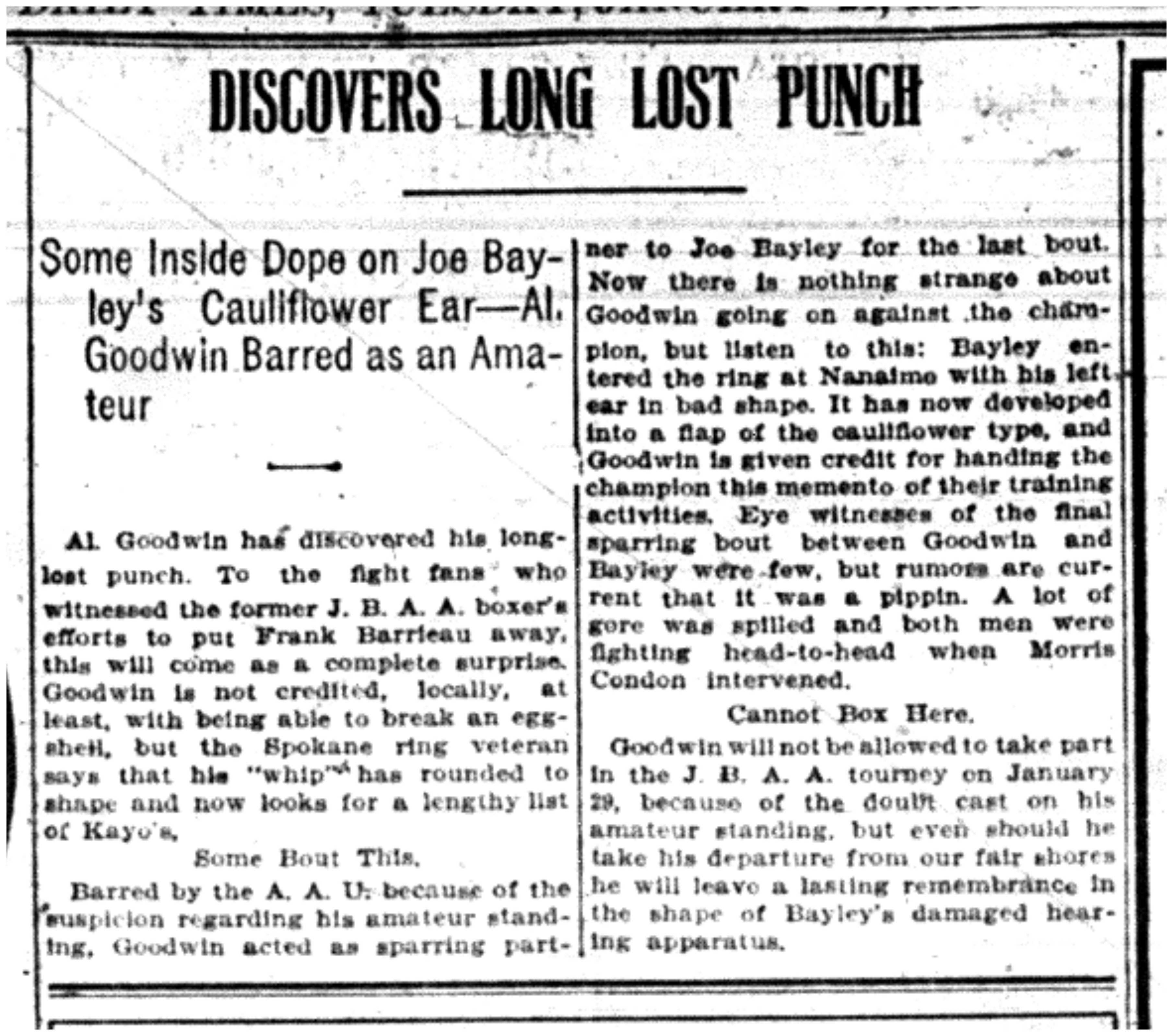 """Discovers Long Lost Punch"""