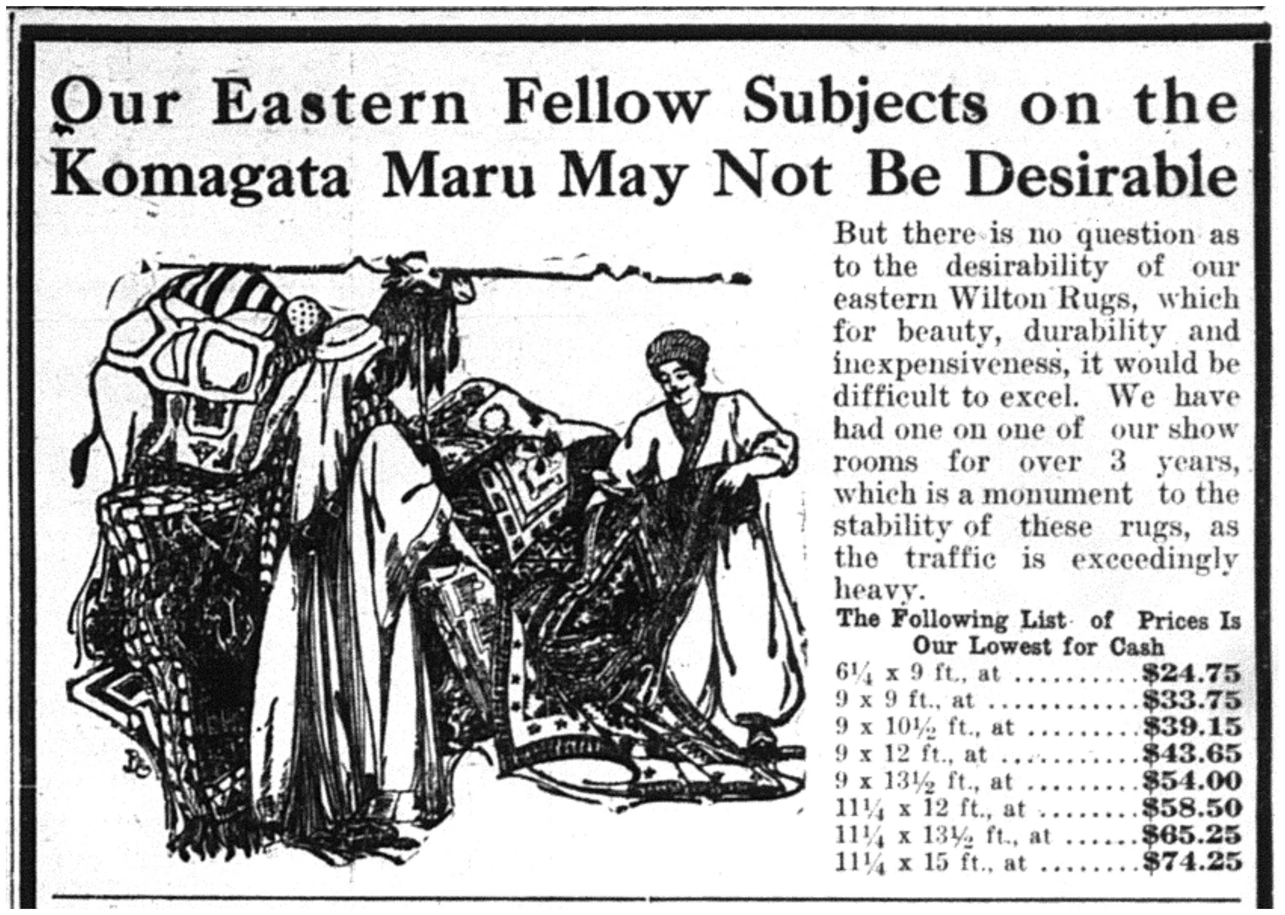 """Our Eastern Fellow Subjects on the Komagata Maru May Not Be Desirable..."""