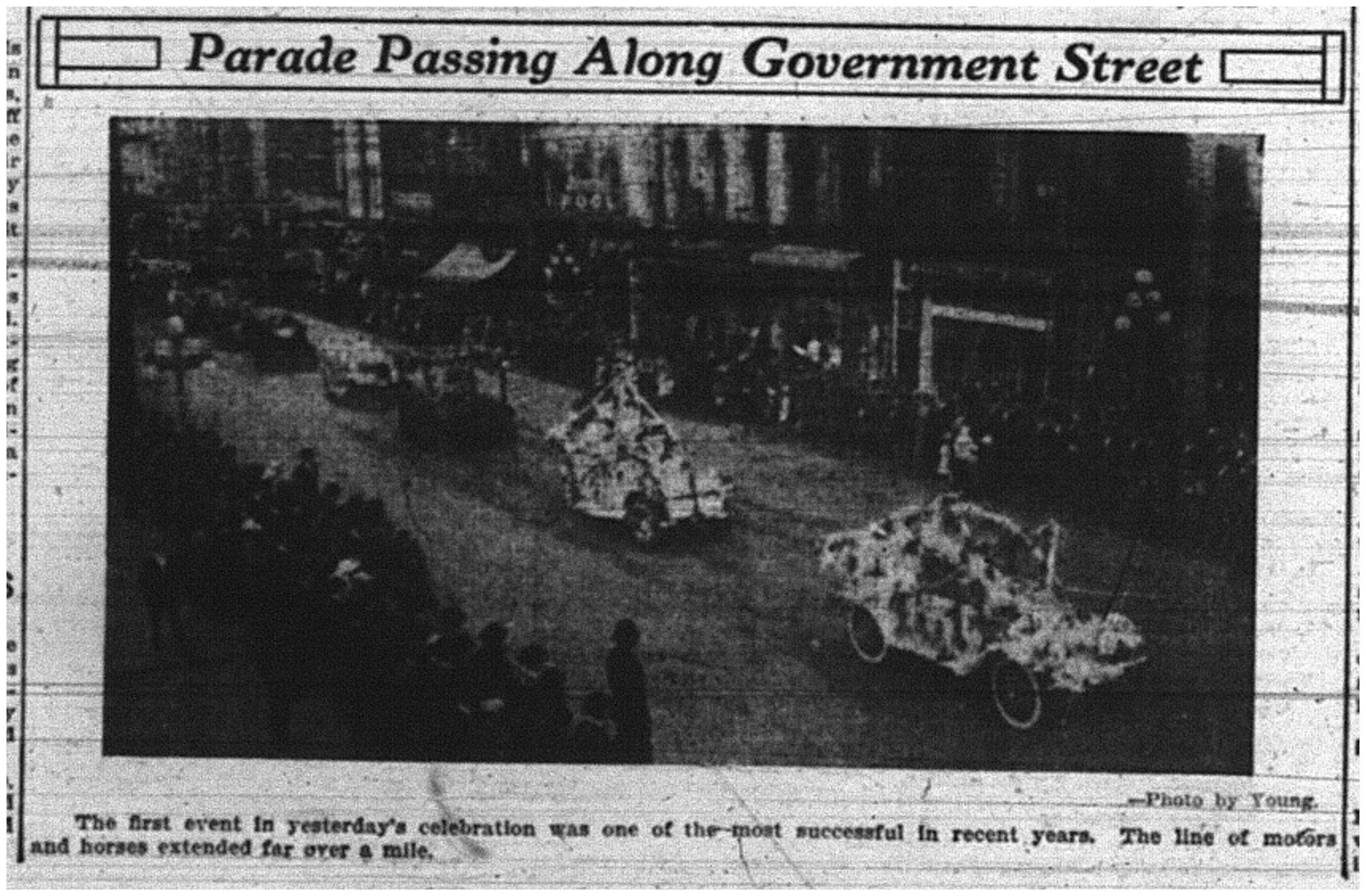 """Parade Passing Along Government Street"""