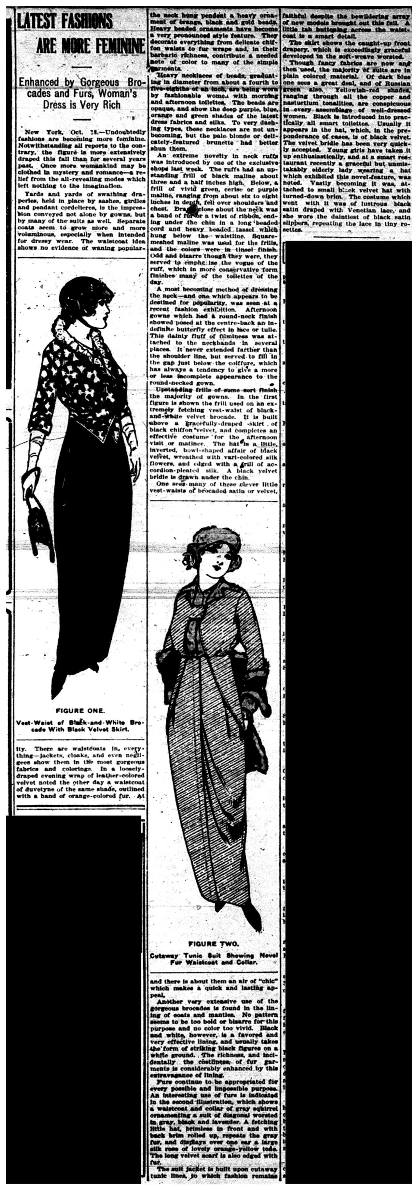 """Latest Fashions Are More Feminine"""