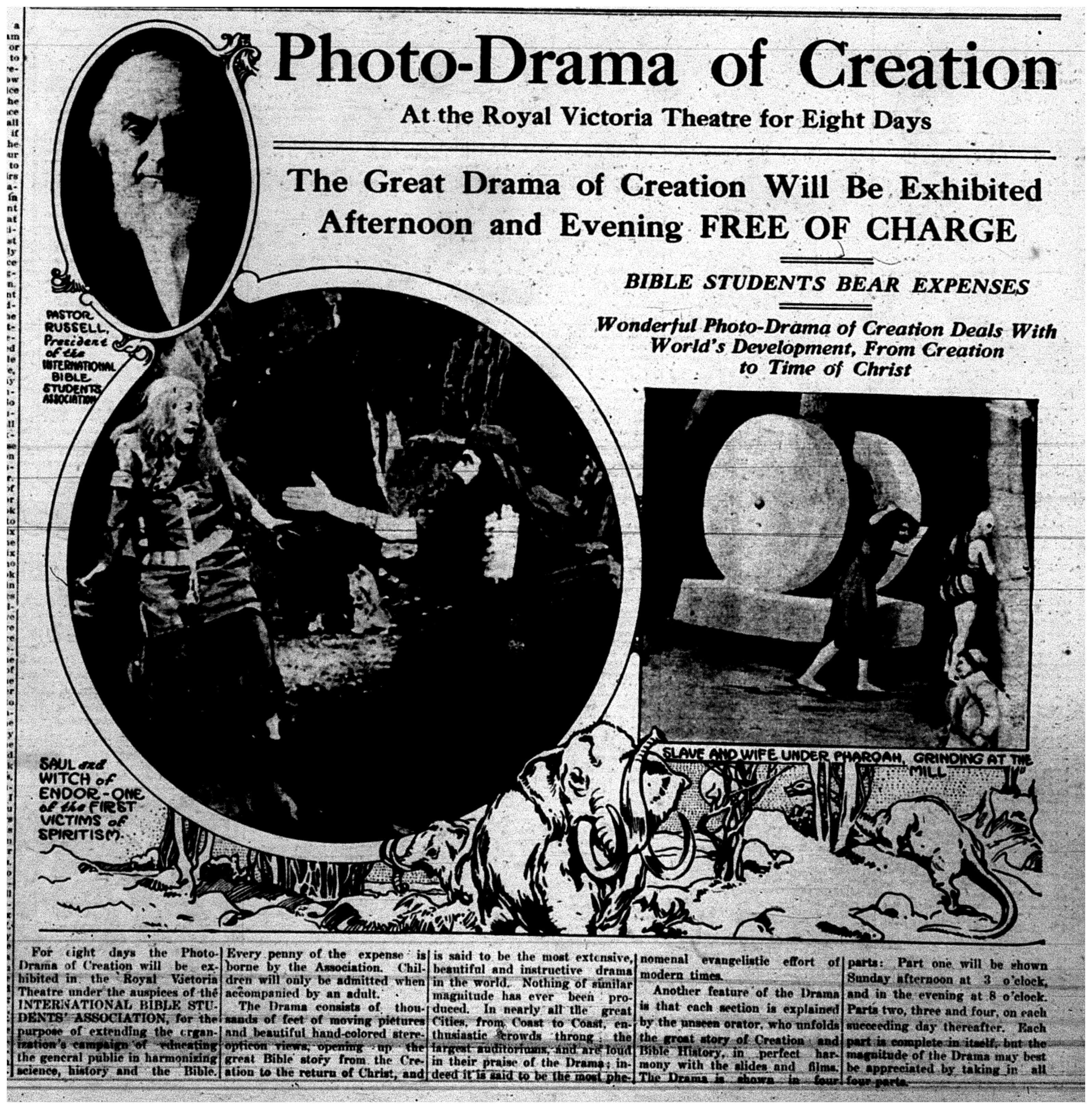 """Photo-Drama of Creation"""