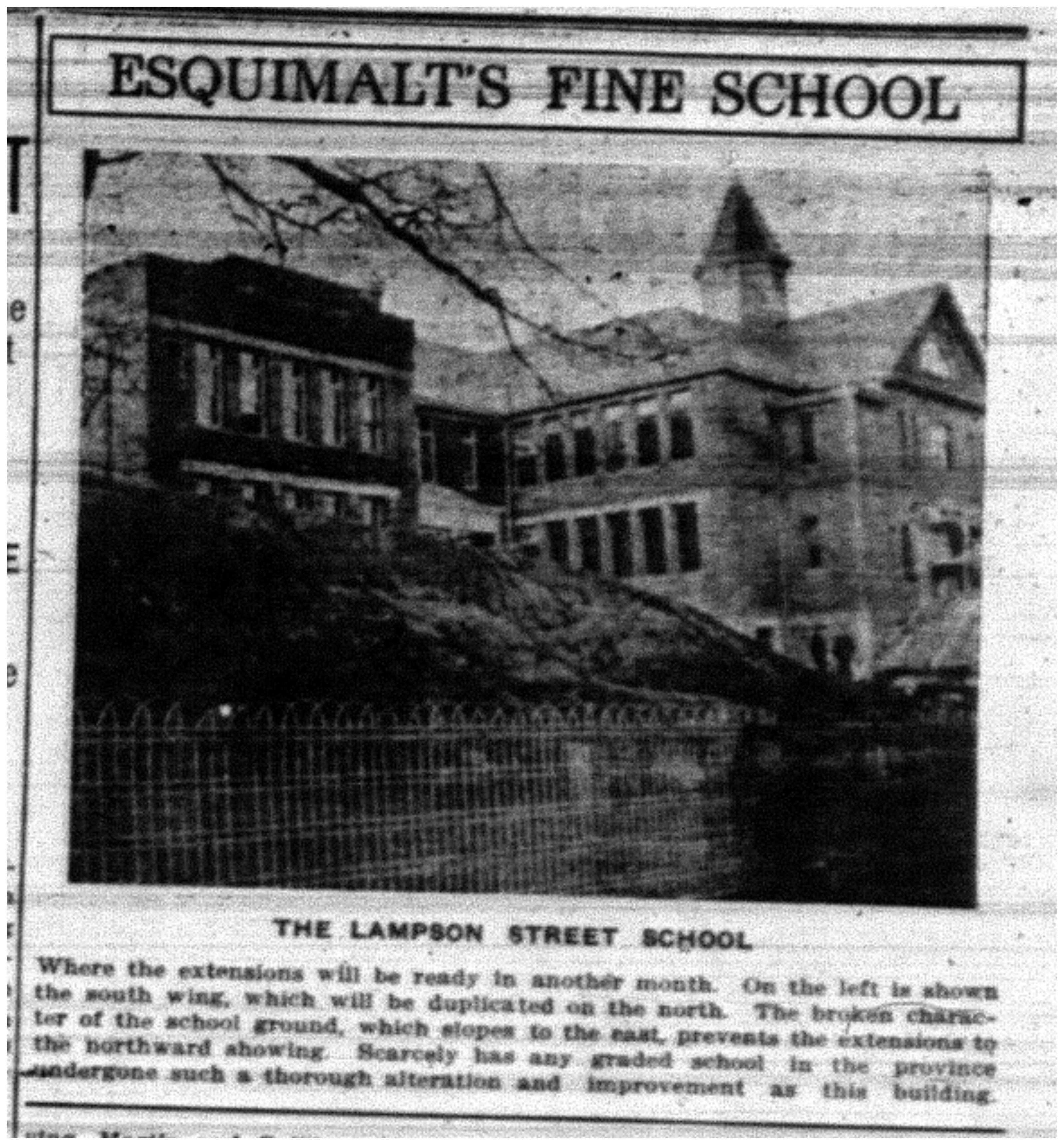 """""""Esquimalt's Fine School"""""""