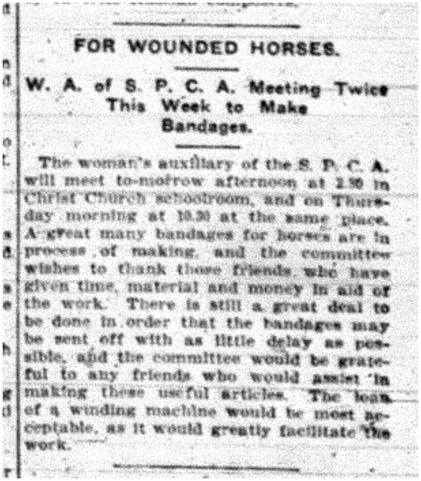 """For Wounded Horses"""