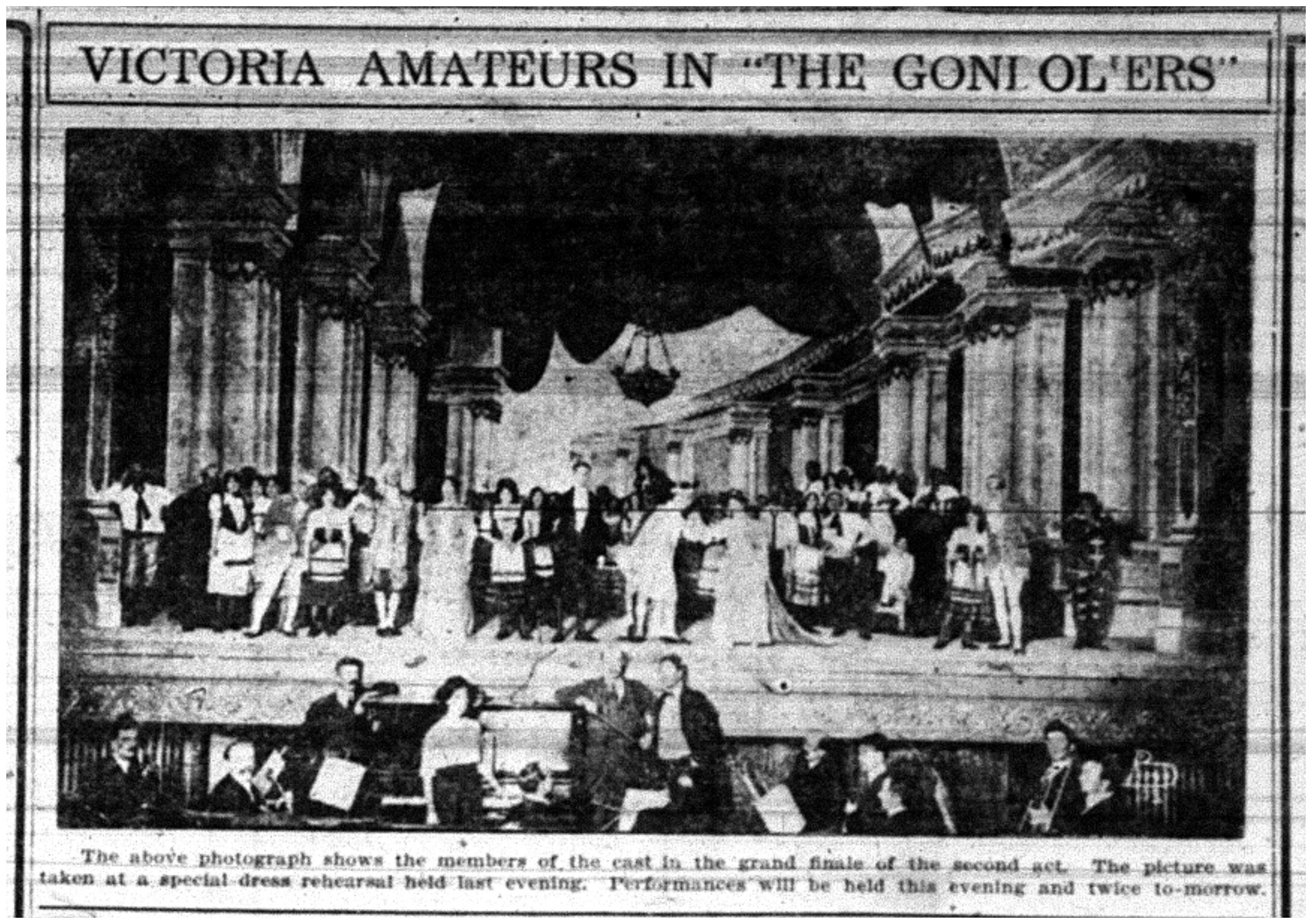 """Victoria Amateurs in ""The Gondoliers"""
