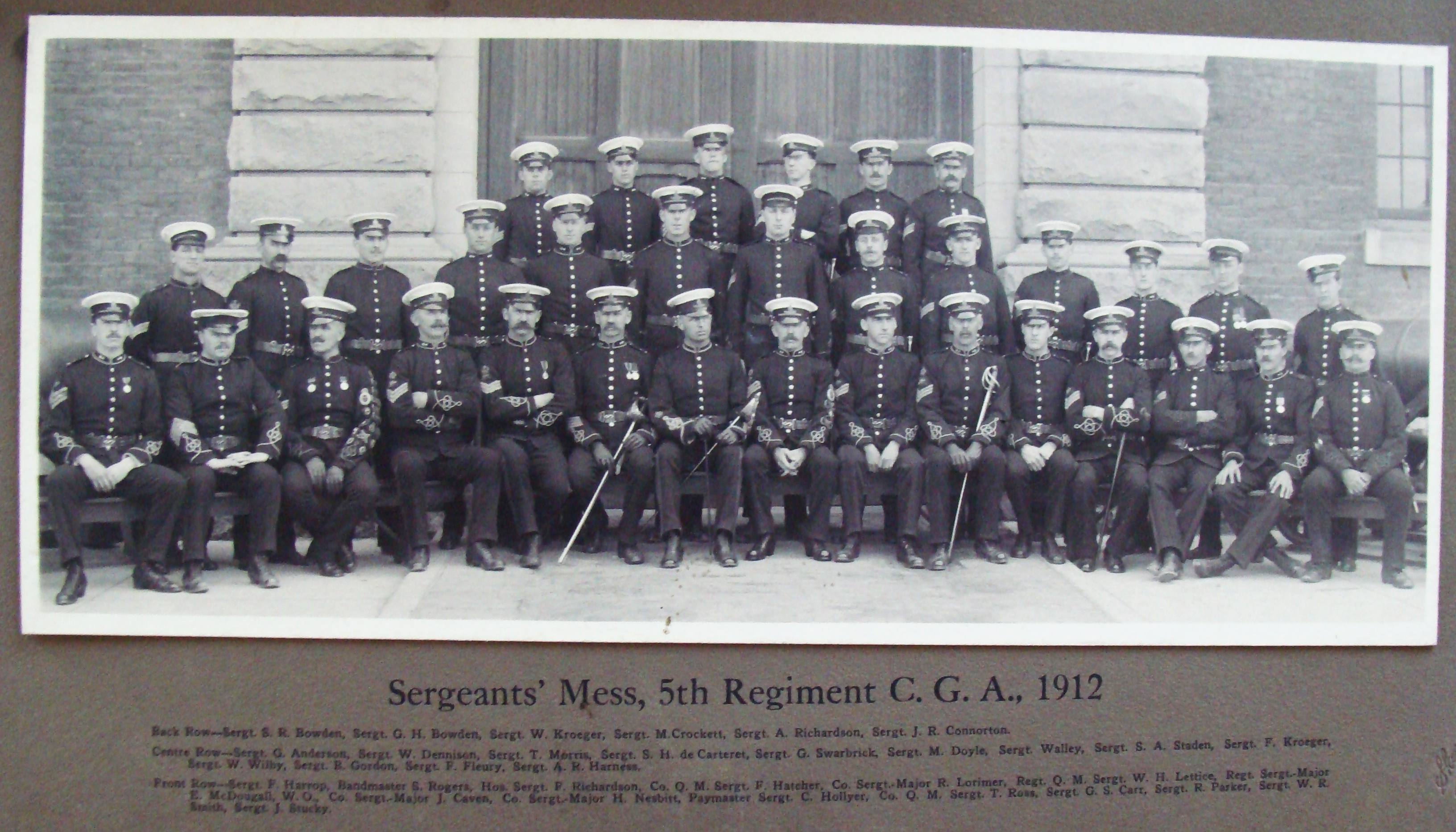 Sergeants' Mess, 5th Regiment