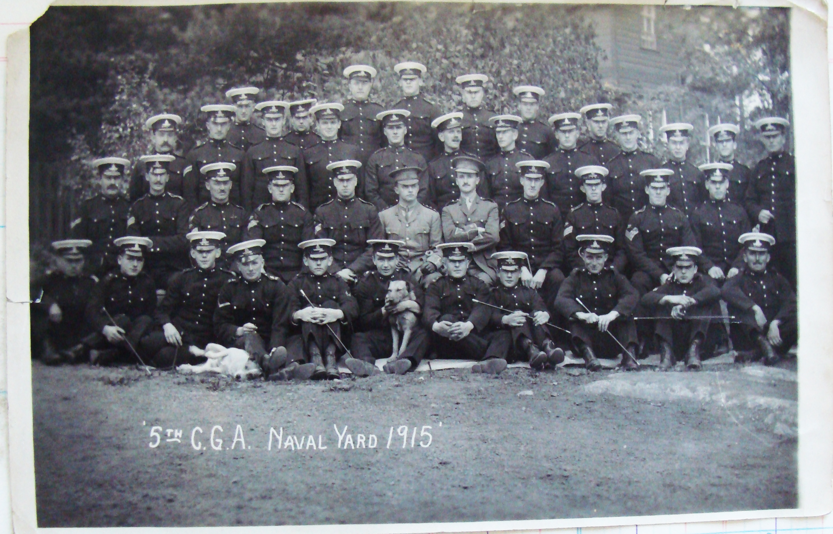 The 5th Regiment in the Naval Yard