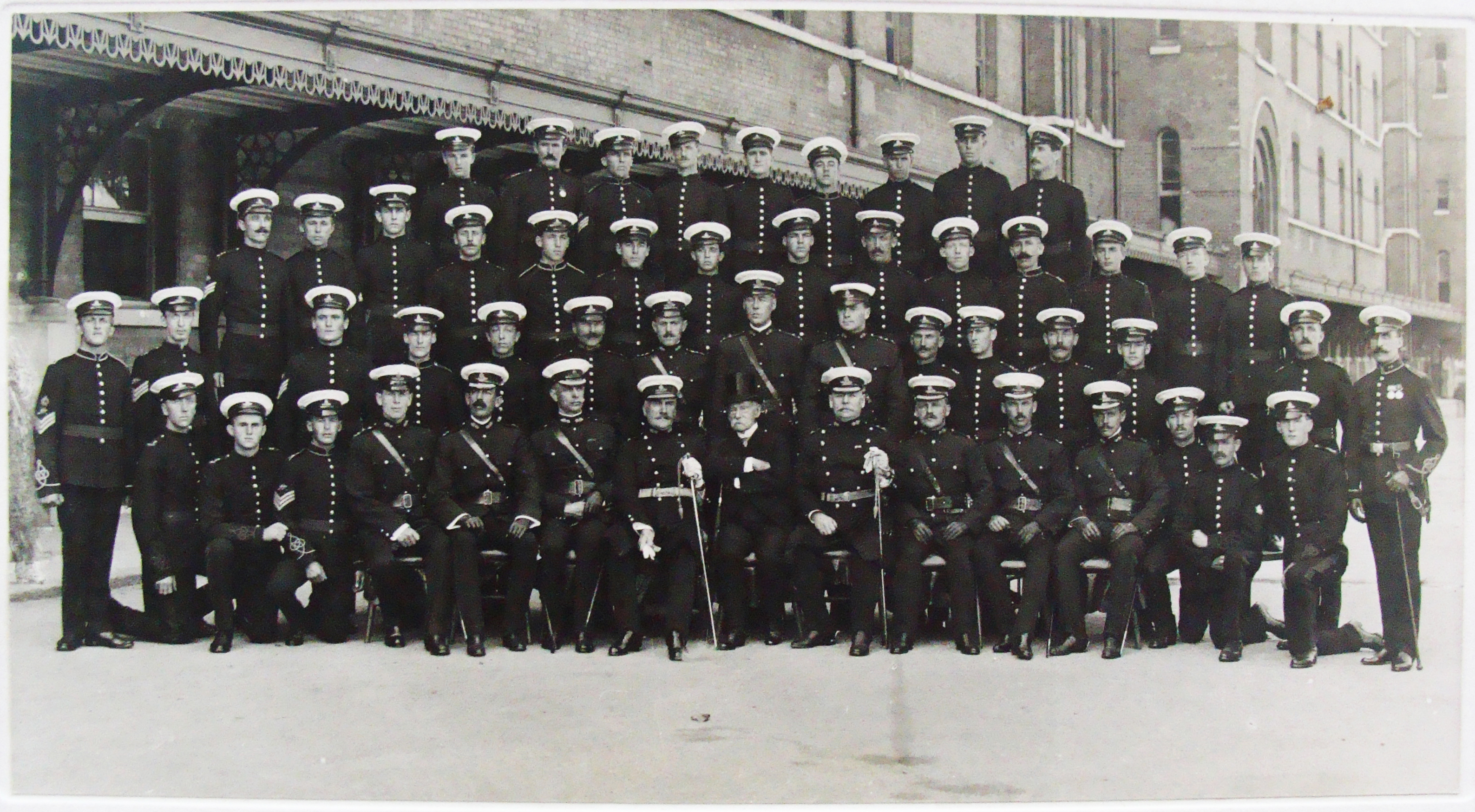 Canadian Heavy Artillery Team in Dress Uniforms
