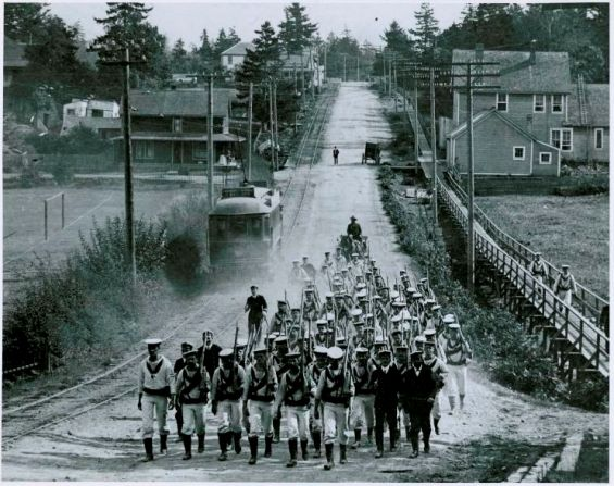 Sailors Marching in Esquimalt