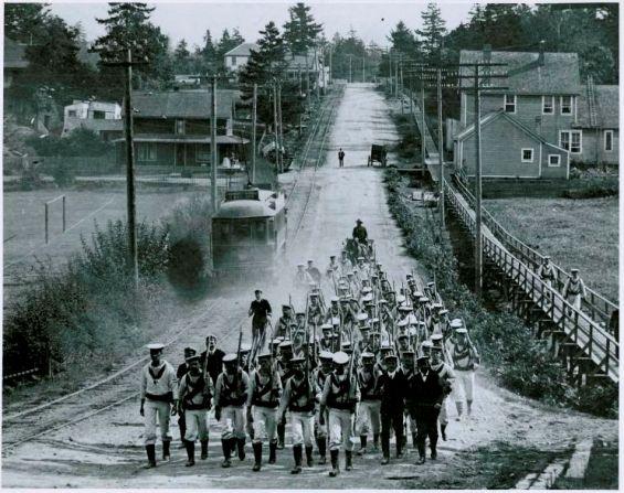 Sailors Marching in Esquimalt