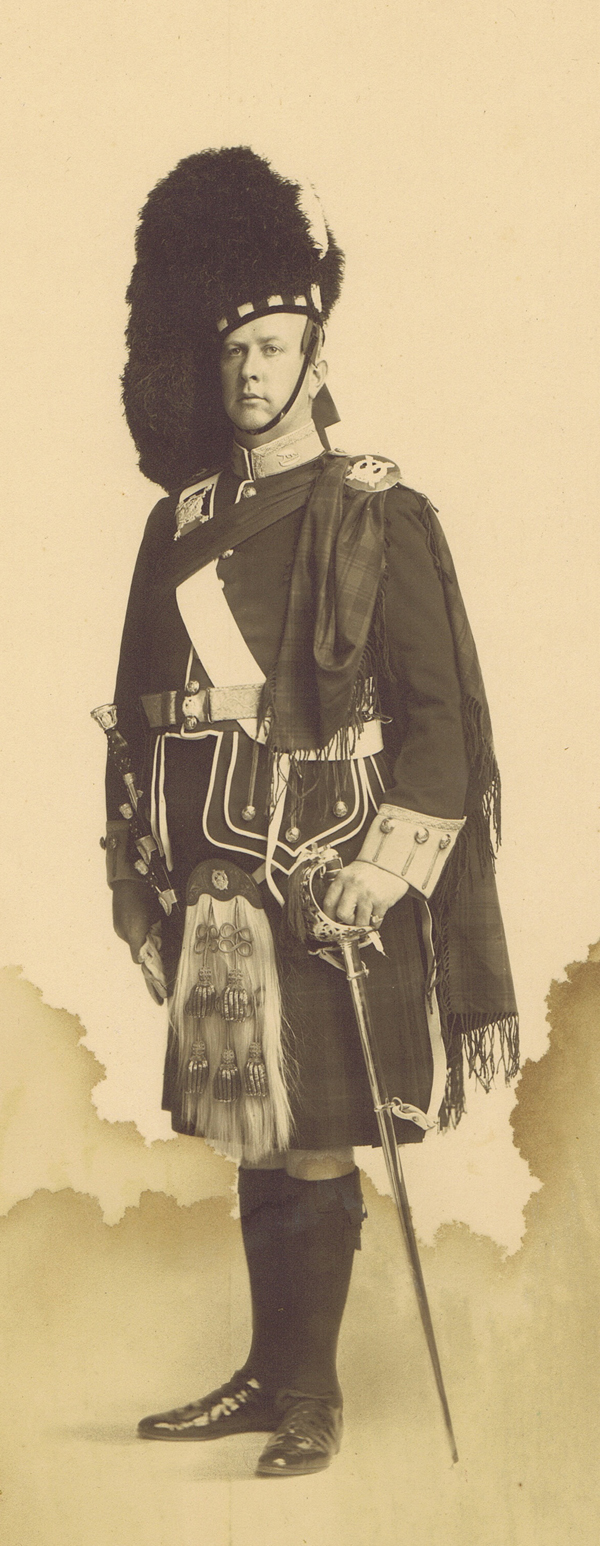 Arthur Currie in Highlander Regalia