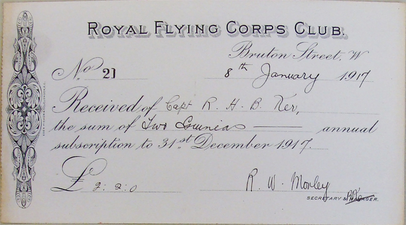 Royal Flying Corps Club Subscription