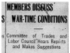 """""""Members Discuss War-Time Conditions"""""""