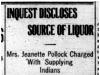 """""""Inquest Discloses Source of Liquor"""""""