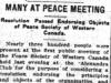 """Many at Peace Meeting"""