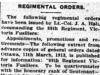 """""""Regimental Orders"""""""