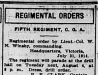 """Regimental Orders"""
