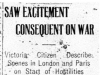 """""""Saw Excitement Consequent on War"""""""