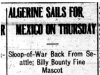 """Algerine Sales for Mexico on Thursday"""