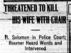 """Threatened to Kill His Wife With Chair"""