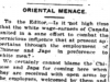 """Oriental Menace"""