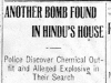 """Another Bomb Found in Hindu's House."""