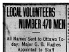 """Local Volunteers Number 470 Men"""