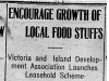 """Encourage Growth of Local Food Stuffs"""