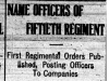 """Name Officers of Fiftieth Regiment"""