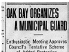 """Oak Bay Organizes a Municipal Guard"""