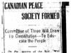 """Canadian Peace Society Formed"""