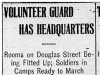 """Volunteer Guard Has Headquarters"""