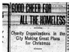 """Good Cheer For All the Homeless"""