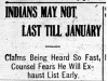 """Indians May Not Last Till January"""