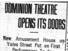 """Dominion Theatre Opens its Doors"""