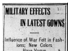 """Military Effects in Latest Gowns"""